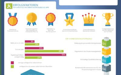 Prozessmanagement: Ziele, Nutzen, Erfolgsfaktoren (Infografik)